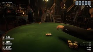 Red Dead Redemption 2 - Poker - Strait Flush/Ace High Flush Back-To-Back