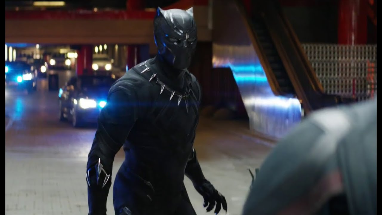 Extended Black Panther Chase Scene In Captain America