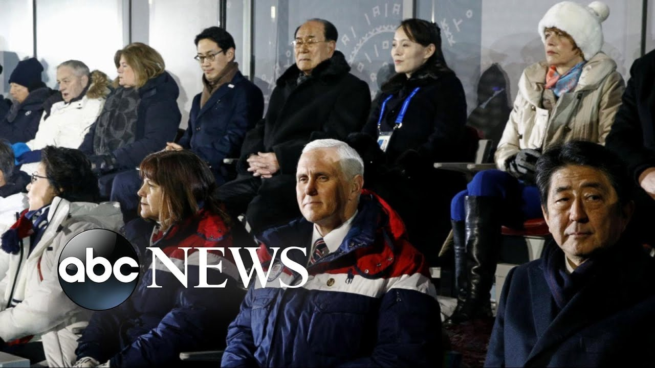 Kim Jong Un's sister sits behind Vice President Mike Pence at Winter Games