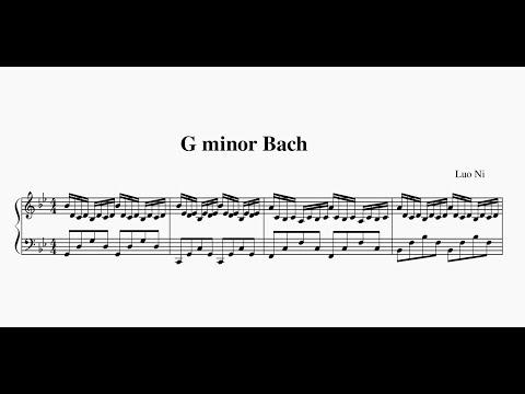 Luo Ni:G Minor Bach (Sheet Music)