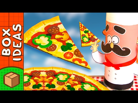 Make The Best Cardboard Pizza Ever | DIY Craft Ideas for Kids on Box Yourself