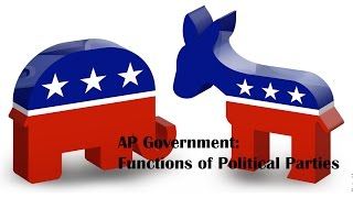AP Government: Functions of Political Parties