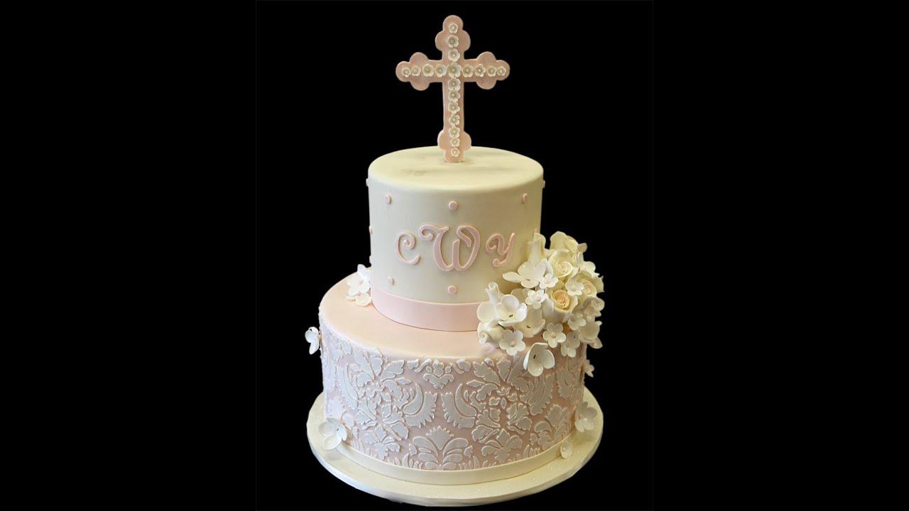 Charlottes Baptism Cake YouTube