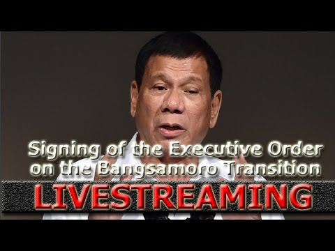 LIVESTREAM: Signing of the Executive Order on the Bangsamoro Transition Commission (BTC)