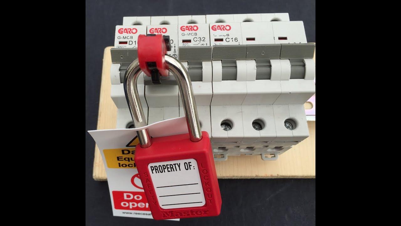Master Lock MCB Circuit Breaker Lockout Lock Off Isolation Device