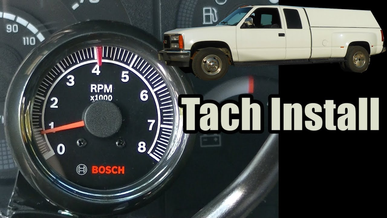 small resolution of bosch tachometer wiring wiring diagram paper 91 gmc c3500 dually tach install 454 tbi youtube bosch