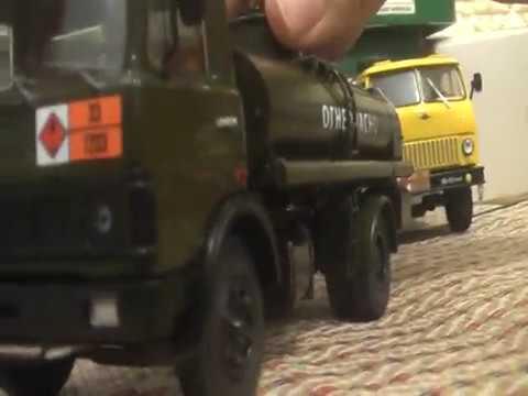 МАЗ-5337 АЦ-9 бензовоз от Автоистории обзор 1:43