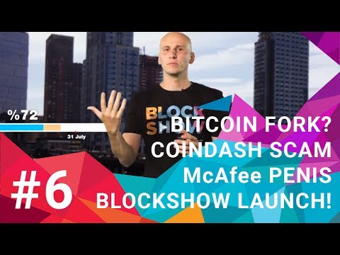 Blocki Talki #6 - Bitcoin fork? CoinDash SCAM | McAfee penis | Blockshow launch!