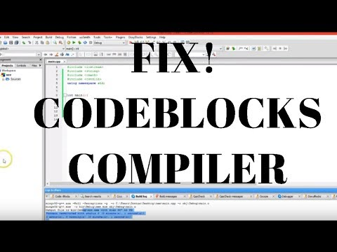 How To Fix Codeblocks GNU GCC Compiler!