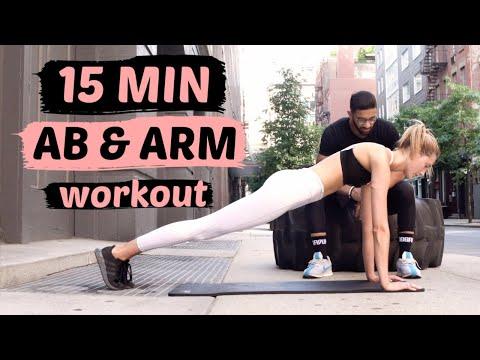 15 MIN UPPER BODY WORKOUT   Flat Belly, Toned Abs, & Arm Burn & Sculpt   Sanne Vloet