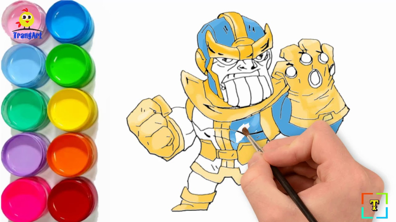 How To Draw Thanos Chibi Avengers Infinity War Thanos Coloring