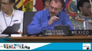Momento que grupo de Venezolanos interrumpen la tercera sesión de la OEA en Cancún #21Junio2017