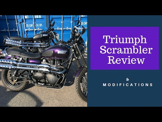 Triumph Scrambler Review & Modifications (after European Motorbike Tour)