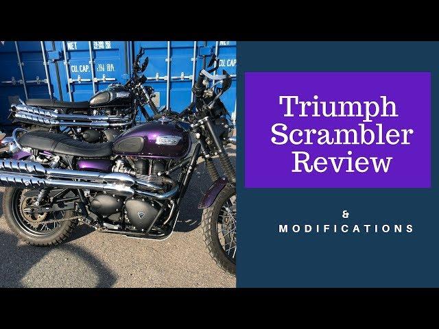 Triumph Scrambler Review & Modifications (after European Motorbike Tour)