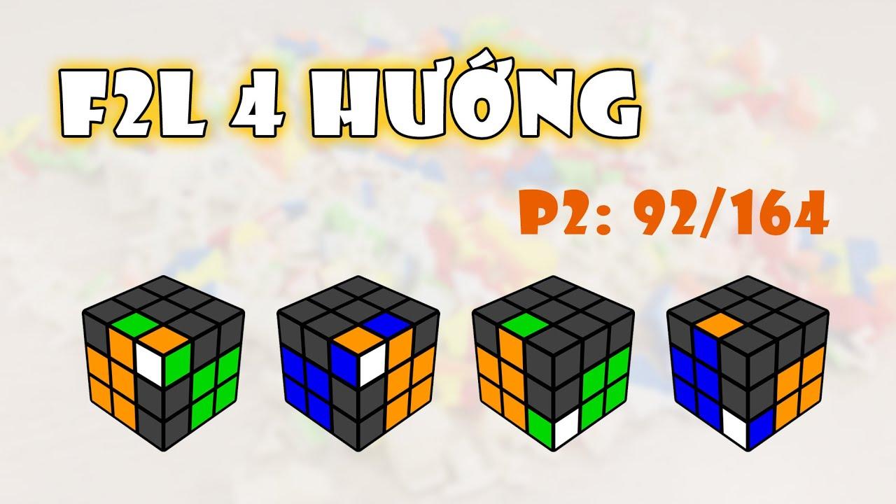 F2L 4 hướng - Phần 2: 92/164 | Rubik Ocean