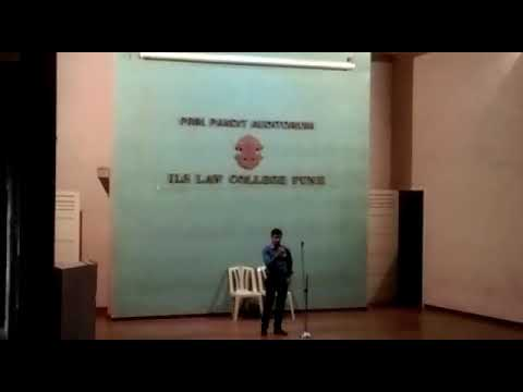 My frist song in ILS LAW COLLEGE PUNE