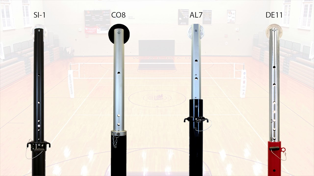 Volleyball Poles Adjusting Volleyball Pole Height Sports Imports Youtube