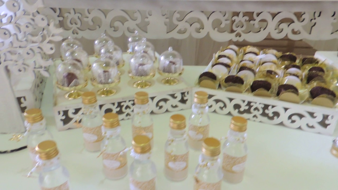 FESTA DE BATIZADO BRANCO E DOURADO 7 YouTube -> Decoracao De Batizado Branco Com Dourado