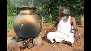 MUTTON !!! Simple Traditional MUTTON BIRYANI Prepared by my Daddy ARUMUGAM / Village food factory
