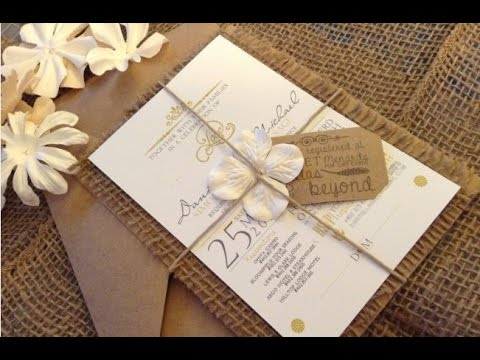burlap wedding invitations youtube