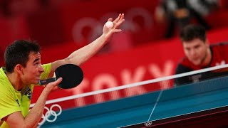 1/4 Final Olympic Games Tokyo 2020: Hugo Calderano 🇧🇷 VS Dimitrij Ovtcharov 🇩🇪