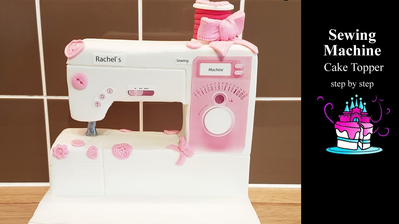 Download Sewing Machine Cake Topper