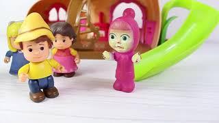 Maşha Heidi Peter Parkta Kaydıraktan Kayıyorlar Eğlenceli Çocuk Videosu Masha And Bear
