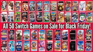 All 50 Nintendo Switch Games On Sale For Black Friday 2018!