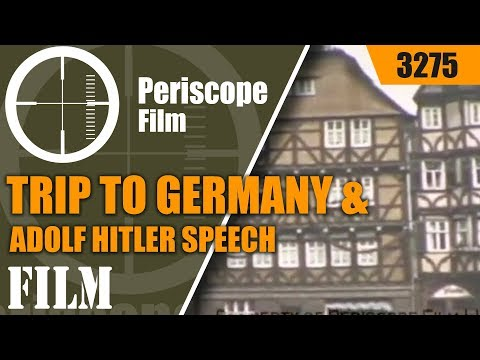 1938 FASCIST GERMANY - Trip to Germany & Adolf Hitler Speech in Color 3275