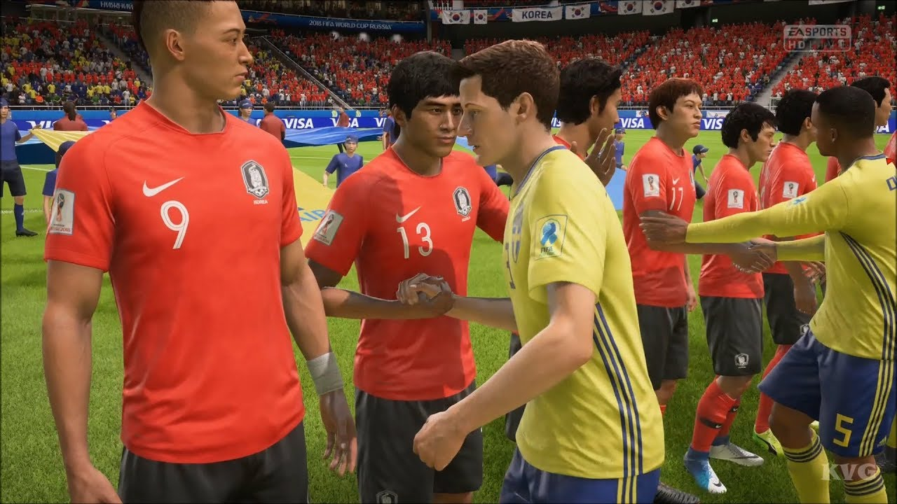 3ca31a6076e 2018 FIFA World Cup Russia - Sweden vs Korea Republic - Gameplay (HD)  [1080p60FPS]