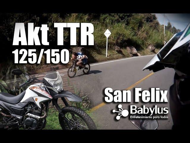 Akt TTR 125 - 150 - 180 modificada / paseando por Medellin / San Felix / action cam Firefly 6s