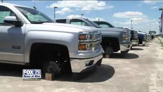 Thieves steal dozens of wheels, tires from a thumbnail