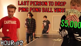 Last To Drop Ping Ping Ball Wins $5,000!
