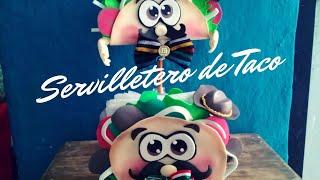Servilletero de Taco    Fiestas Patrias//Decoraciones para noche Mexicana