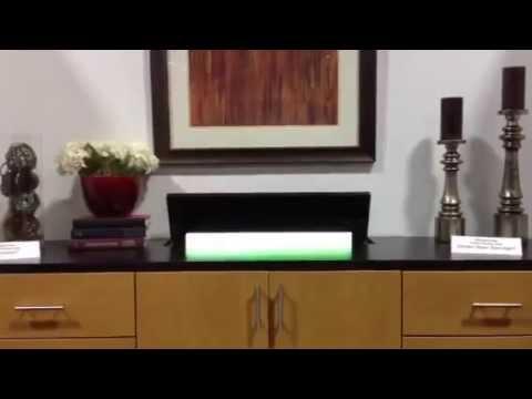 Custom Closet Factory Entertainment Center W/ Hidden Flat Screen TV    YouTube