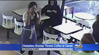 Homeless Woman Throws Hot Coffee At Donut Shop Owner