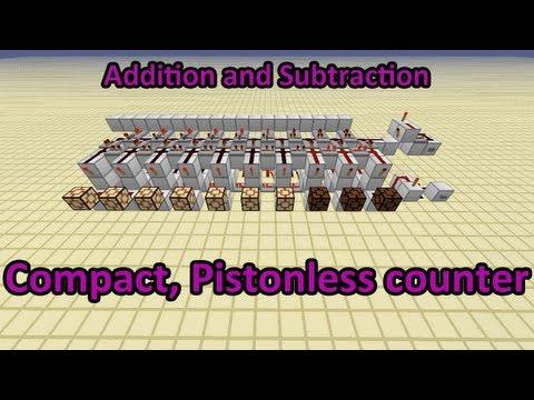 Bi-directional Pistonless Redstone Counter   1.8  [Minecraft Tutorial]