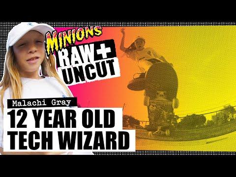 12 Year Old Tech Wizard! Malachi Gray: SC Minions RAW & UNCUT   Santa Cruz Skateboards