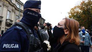Abtreibungsverbot in Polen: Polizei geht hart gegen Demonstranten vor