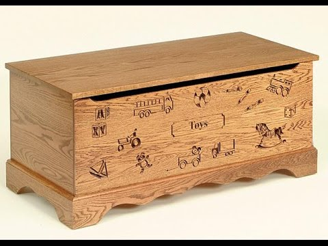 wood toy chest | wooden toy box - YouTube