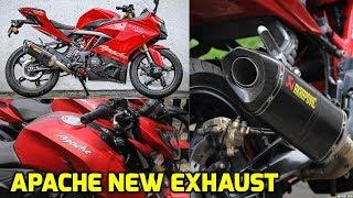 TVS Apache New Exhaust | TVS Aapche RR 310 cc New Exhaust | TVS Apache Series | Bike News