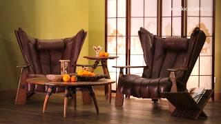 Видео интерьера дома с поразительной дизайнерской мебелью Pacific Green