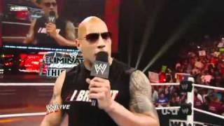 WWE Raw 14/ 2 /11 Part2 THE ROCK RETURNS 720p HD