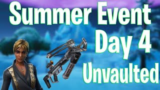 Crossbow Unvaulted 14 Days of Summer Event Day 4 - Défis d'événements gratuits - Fortnite Battle Royale