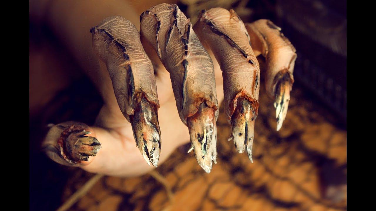 Cursed Hands · SFX Makeup Tutorial · Zombie Nails · Halloween ...