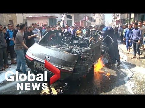 Hamas commander among dead as fighting along Israel-Gaza bor