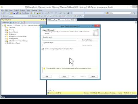 Configure Transactional Replication in SQL Server 2012 Step by Step [HD]