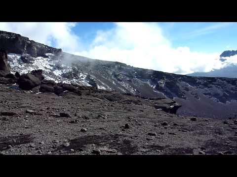Descending Kilimanjaro to Mweka Hut