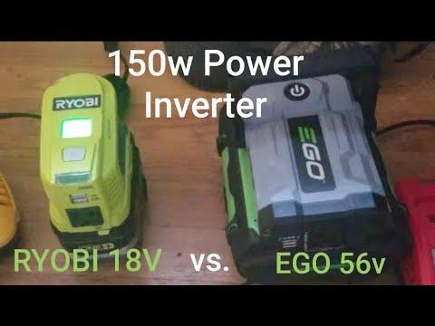 Ryobi Power Inverter vs  Ego Nexus Inverter Charging Batteries  LIVE !!