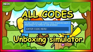 ALLE ARBEITSCODES - UNBOXING SIMULATOR (MAY) | ROBLOX